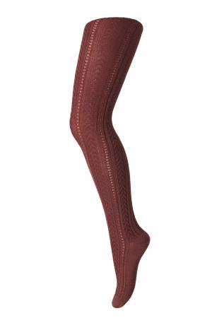 Mp Denmark - Tights rose - Dark brick (19017-4195)