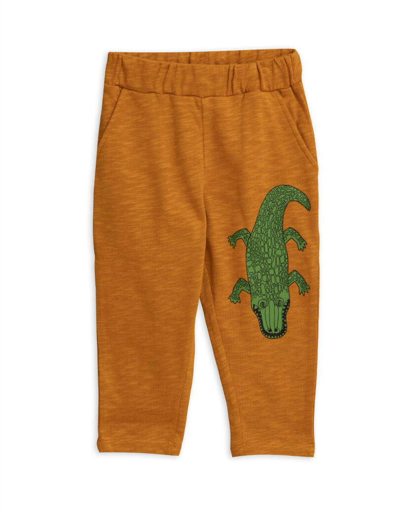 Mini Rodini Crocco sp sweatpants brown