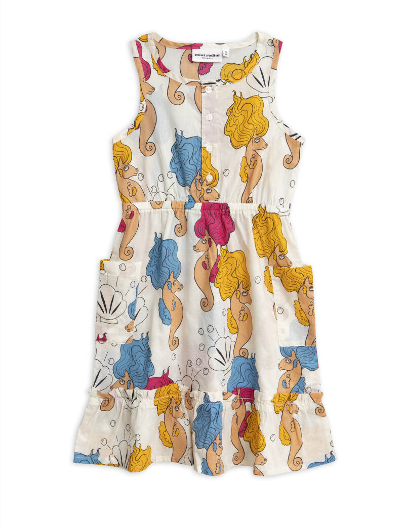Mini Rodini seahorse flounce dress