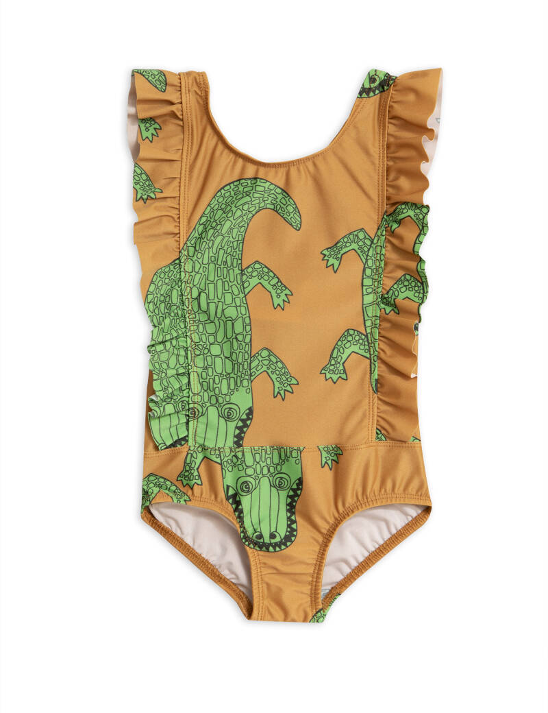 Mini Rodini Crocco ruffled swimsuit