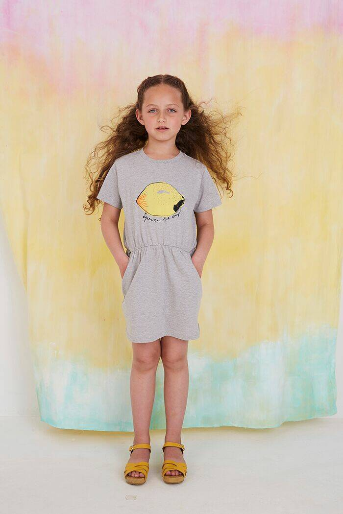 Soft Gallery Demi dress Squeeze light grey