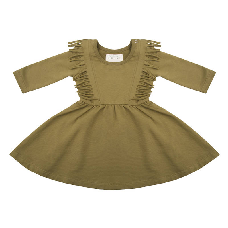 Little indians - Boho dress olive