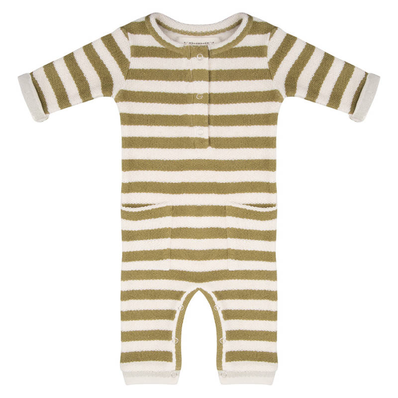 Little indians Jumpsuit Olive stripe