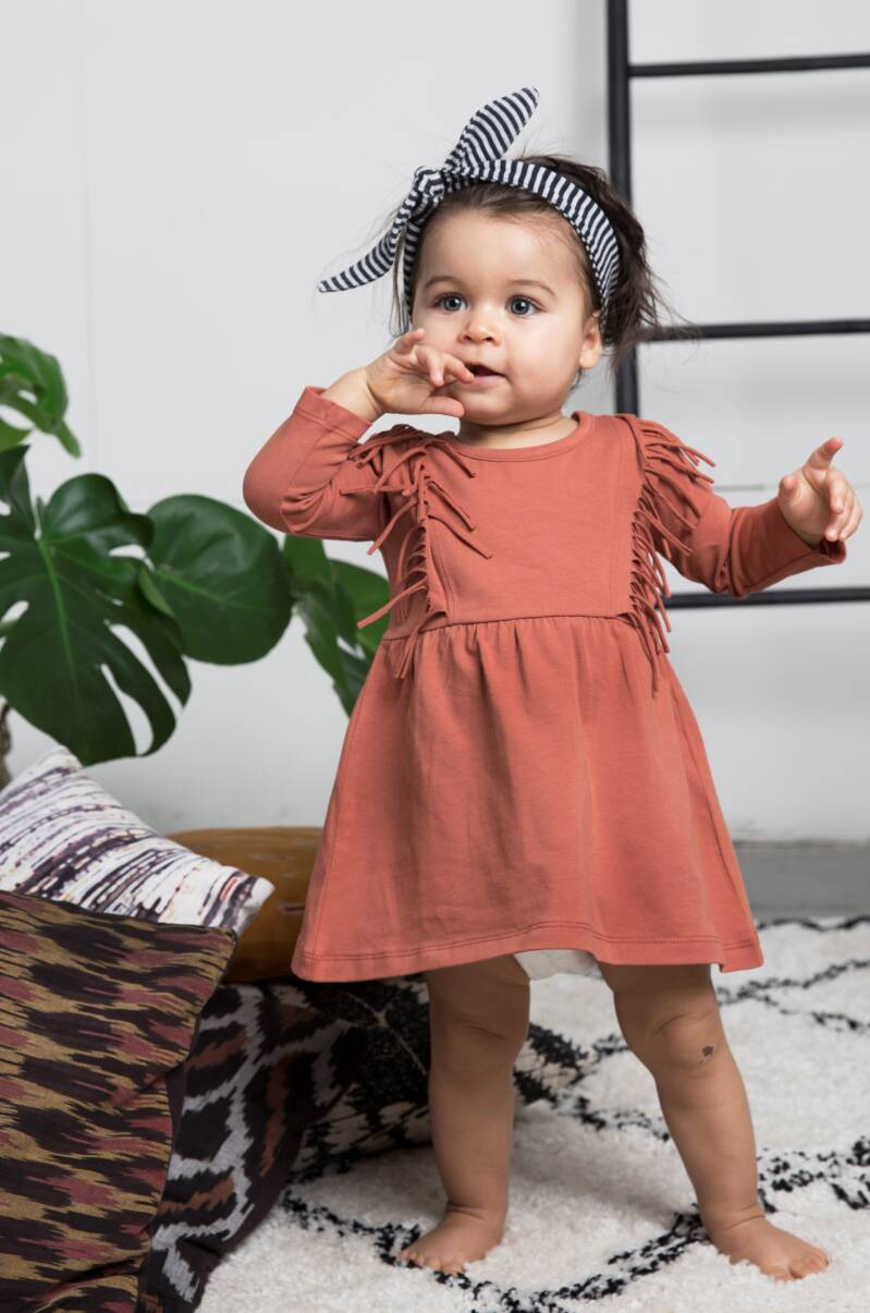 Little indians boho dress - baked clay