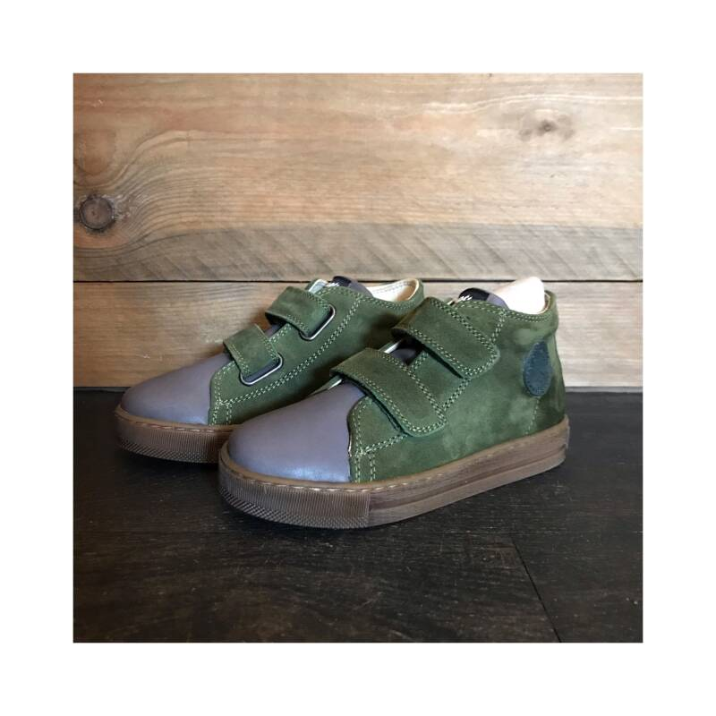 Falcotto - Michael nappa/velour spazz. Antracite-militare