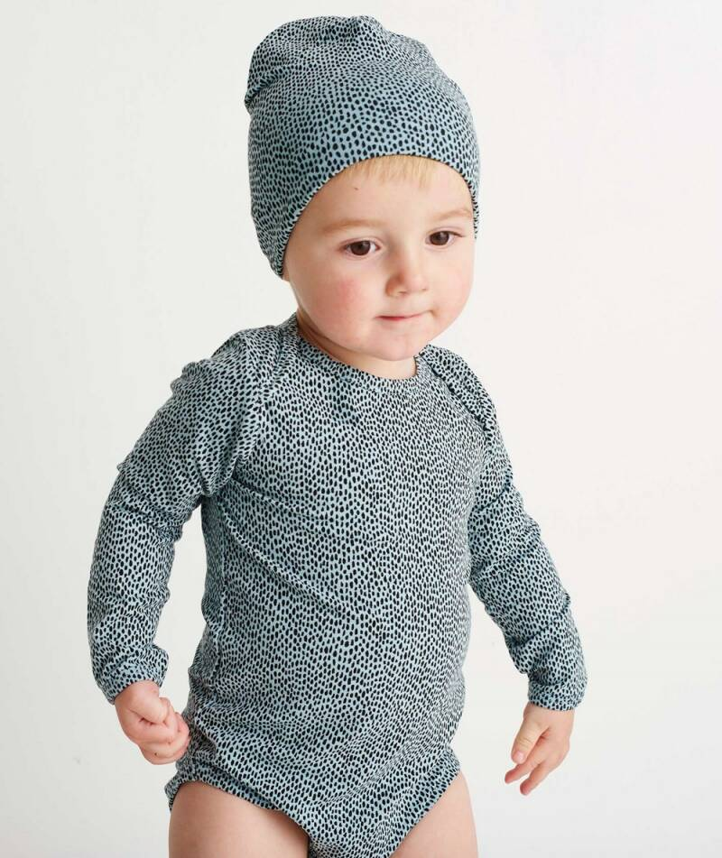 Soft Gallery - Beanie sterling blue AOP Pebbles