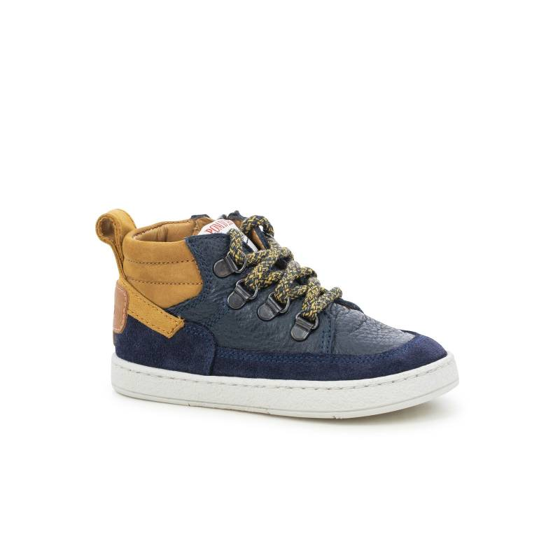 Pom D'Api - Mousse mountain Navy embossed leather