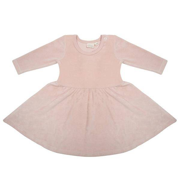 Little indians Dress - Faded pink - velours
