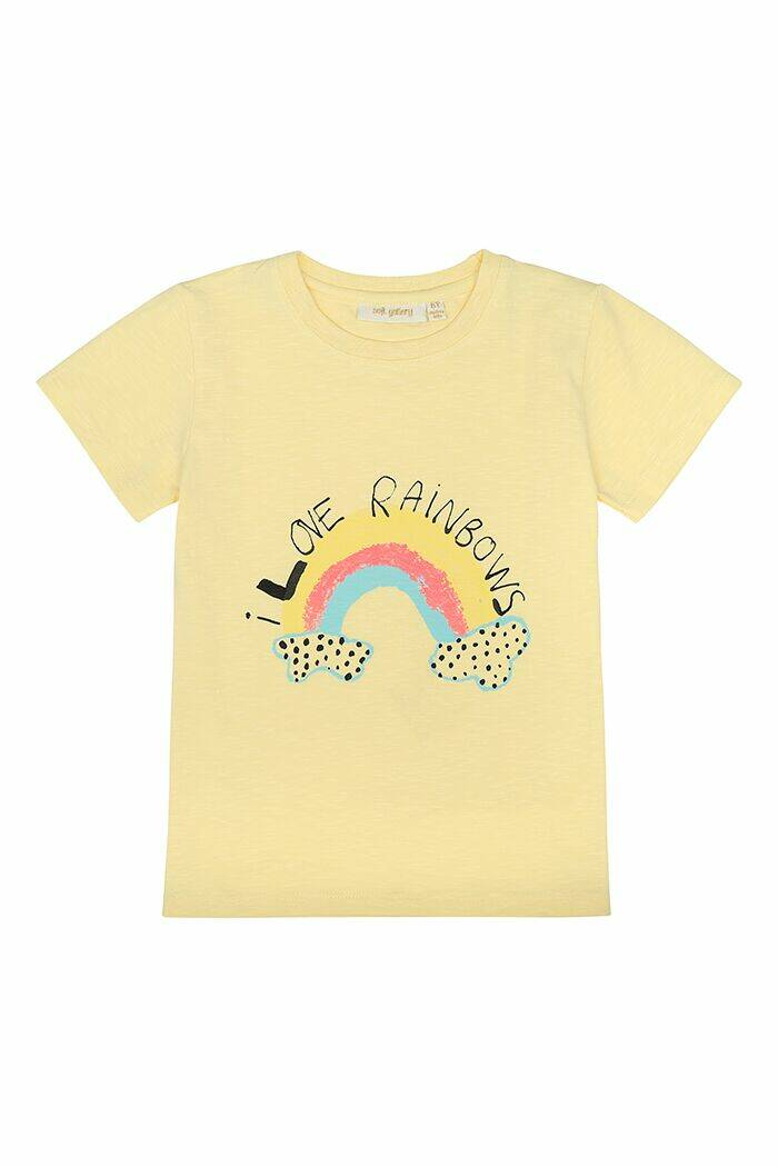 Soft Gallery Bass t-shirt Rainbow french vanilla