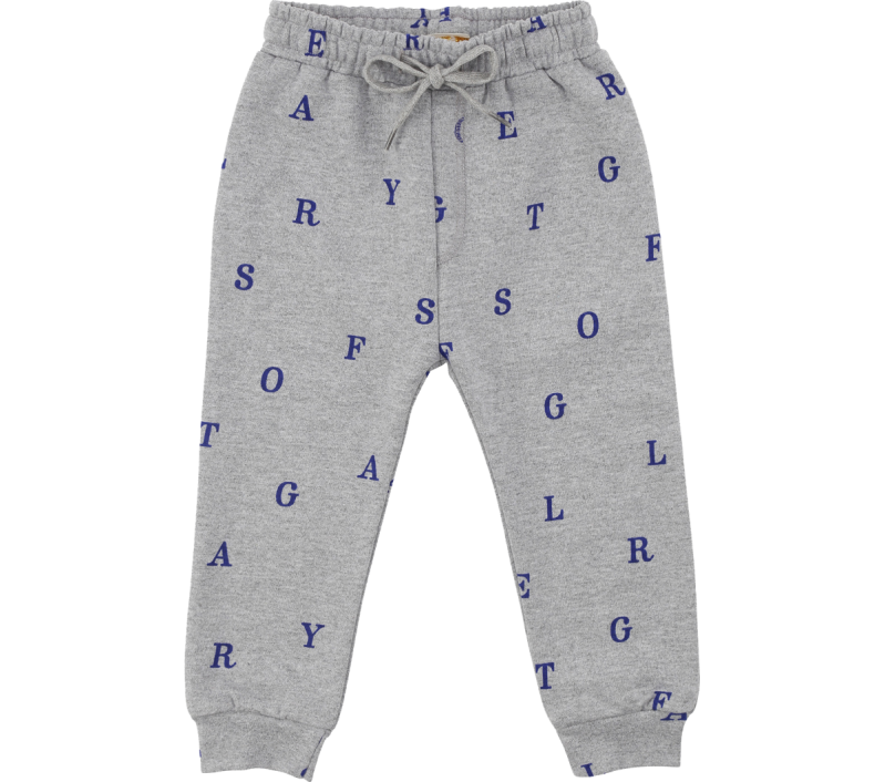 Soft Gallery - Niko pants grey melange letters (12M)