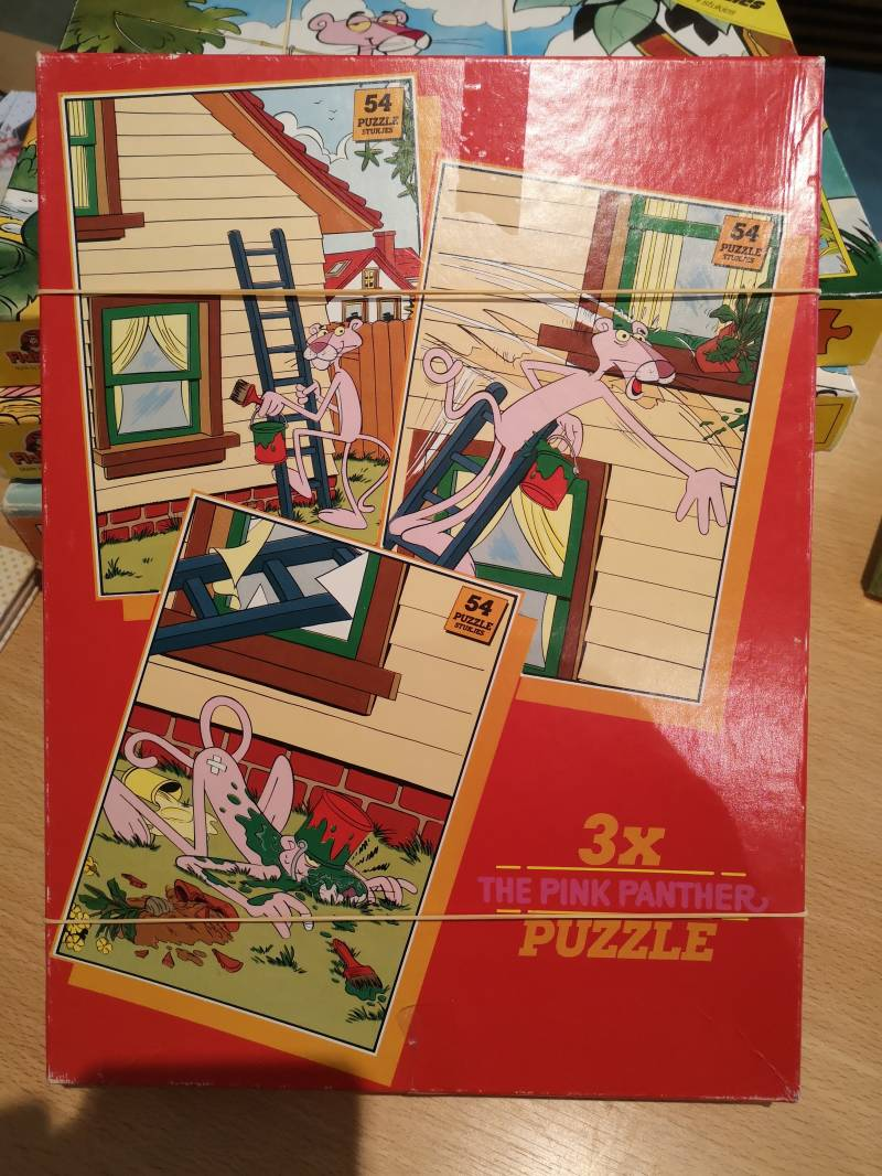 3 puzzels pink panther