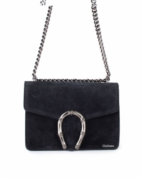 Giuliano suede bag black