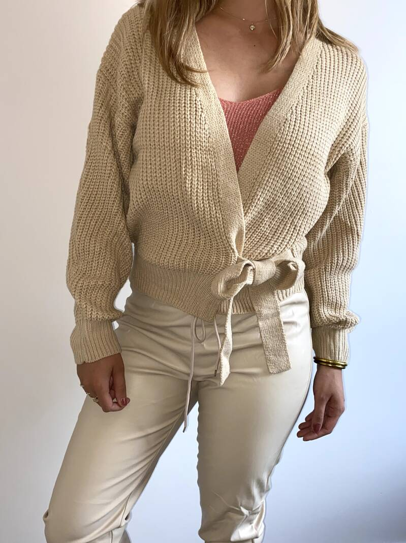 May vest taupe