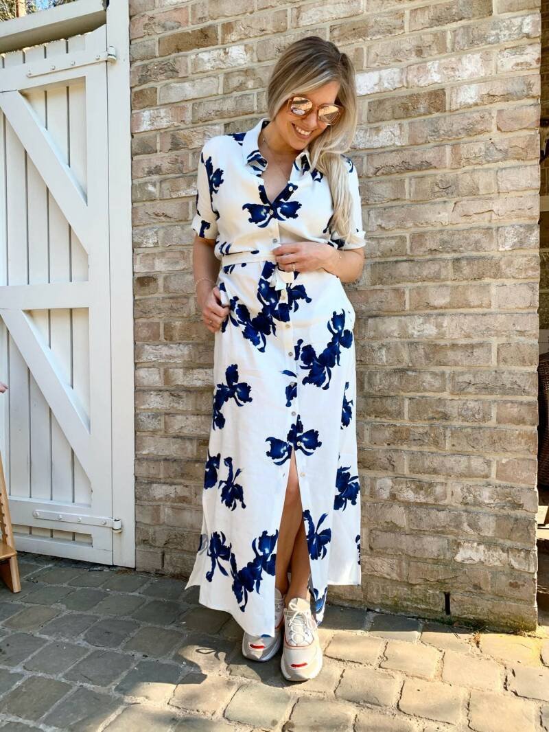 Button down flower dress