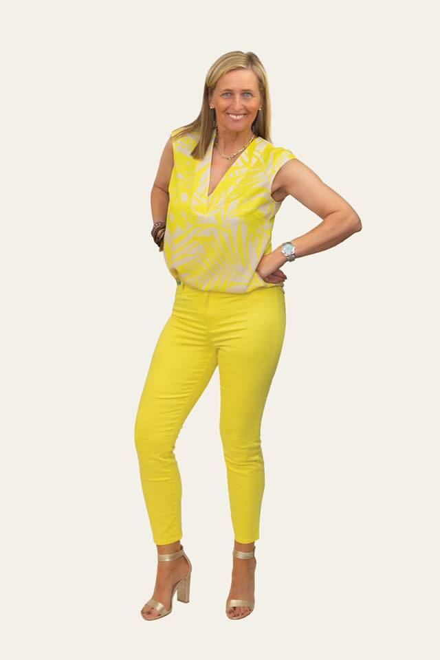Yellow bright pants