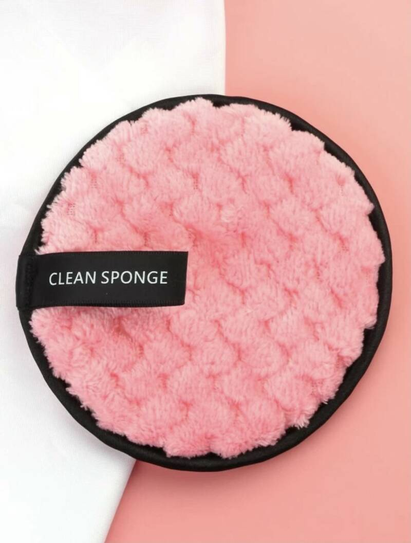 Wipe Off Face Pad - Pink