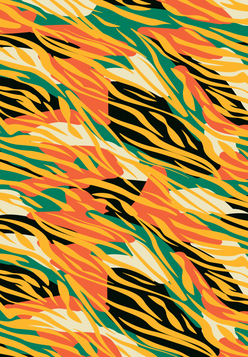 African Print Note card