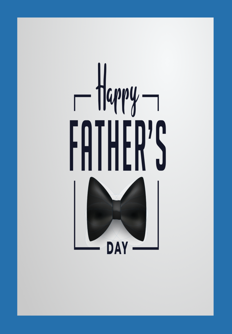 Blue Fathers Day Card