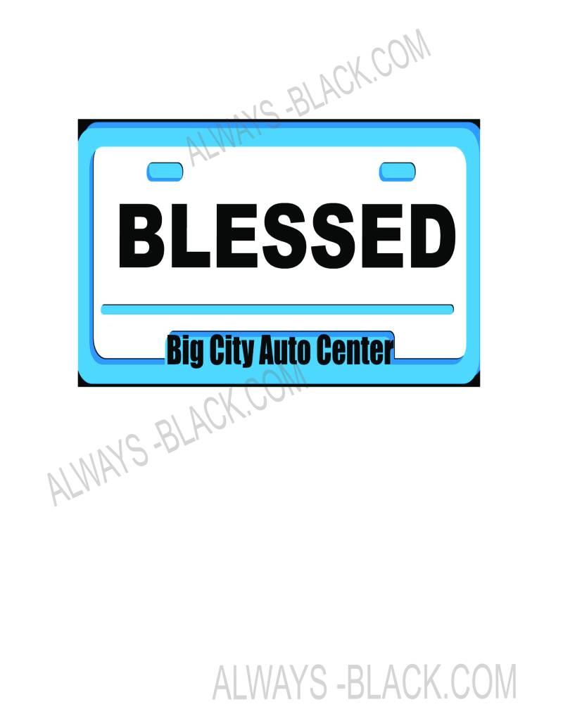 BLESSED LICENSE PLATE