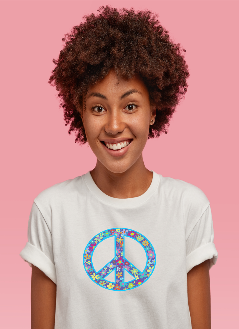 FLORAL PEACE SIGN