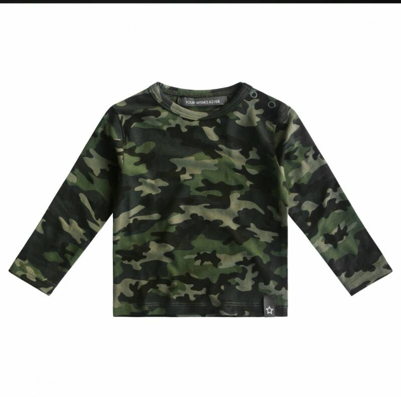 Your Wishes camouflae shirt baby