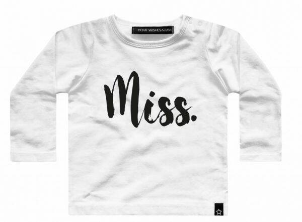 Your Wishes Miss tshirt lange mouw