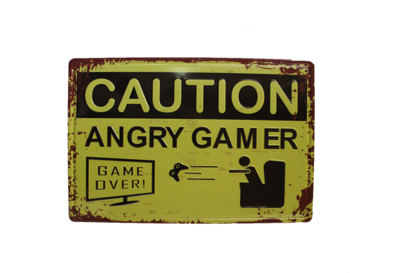 Caution - Angry Gamer (3D)