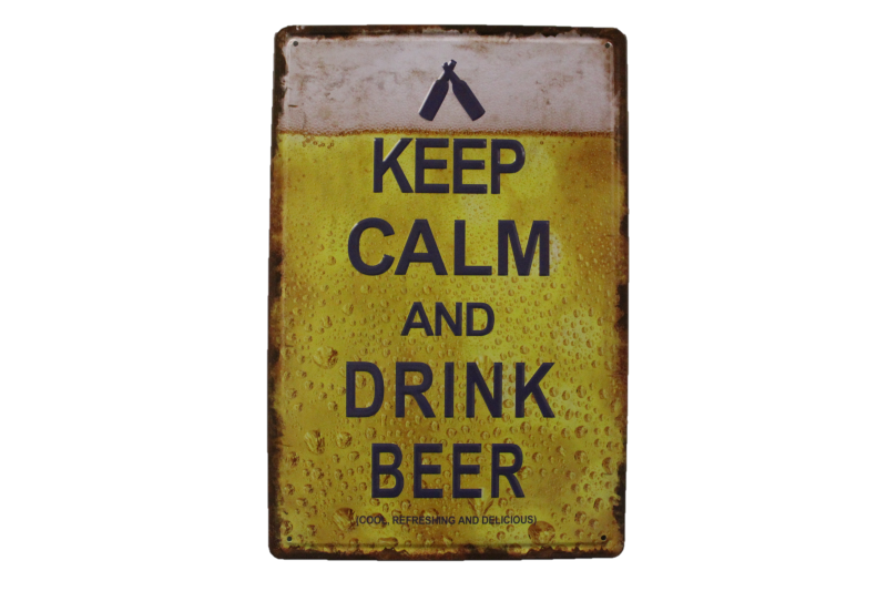 Keep Calm and Drink Beer (3D)