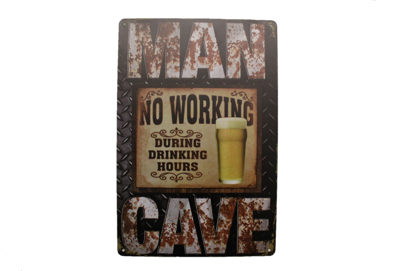 Mancave - No Working During Drinking Hours