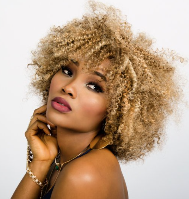 Blond afro