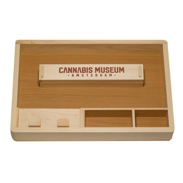 Cannabis Museum Wooden Rolling Tray Large