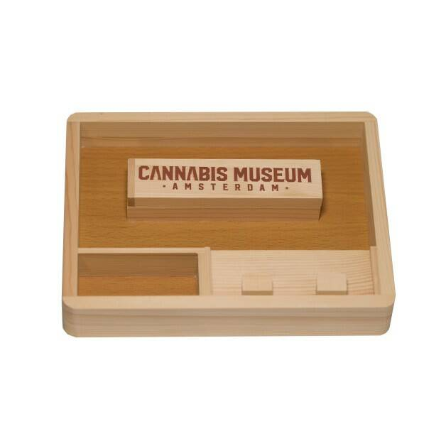 Cannabis Museum Wooden Rolling Tray Small