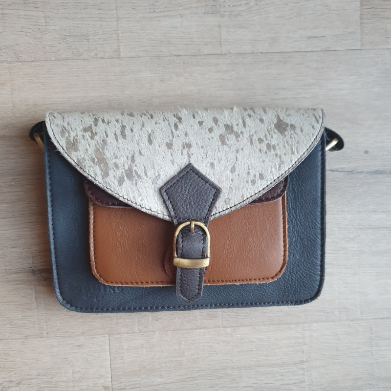 Mini bag - wit/blauw
