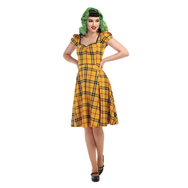 New! Mimi Clueless check doll dress Collectif
