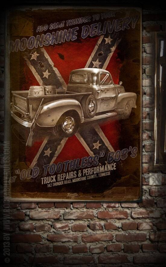 Poster Moonshine Delivery