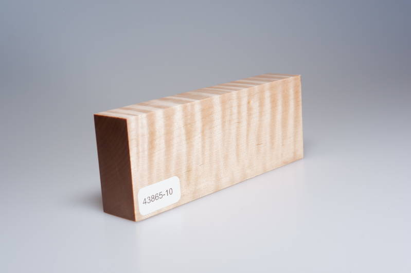 Curly Maple 122 x 24 x 47 mm, 43865-10