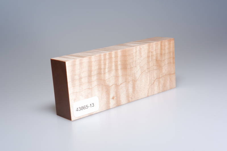 Curly Maple 122 x 23 x 49 mm, 43865-13