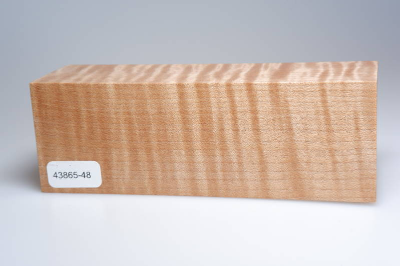 Curly Maple 150 x 44 x 52 mm, 43865-48