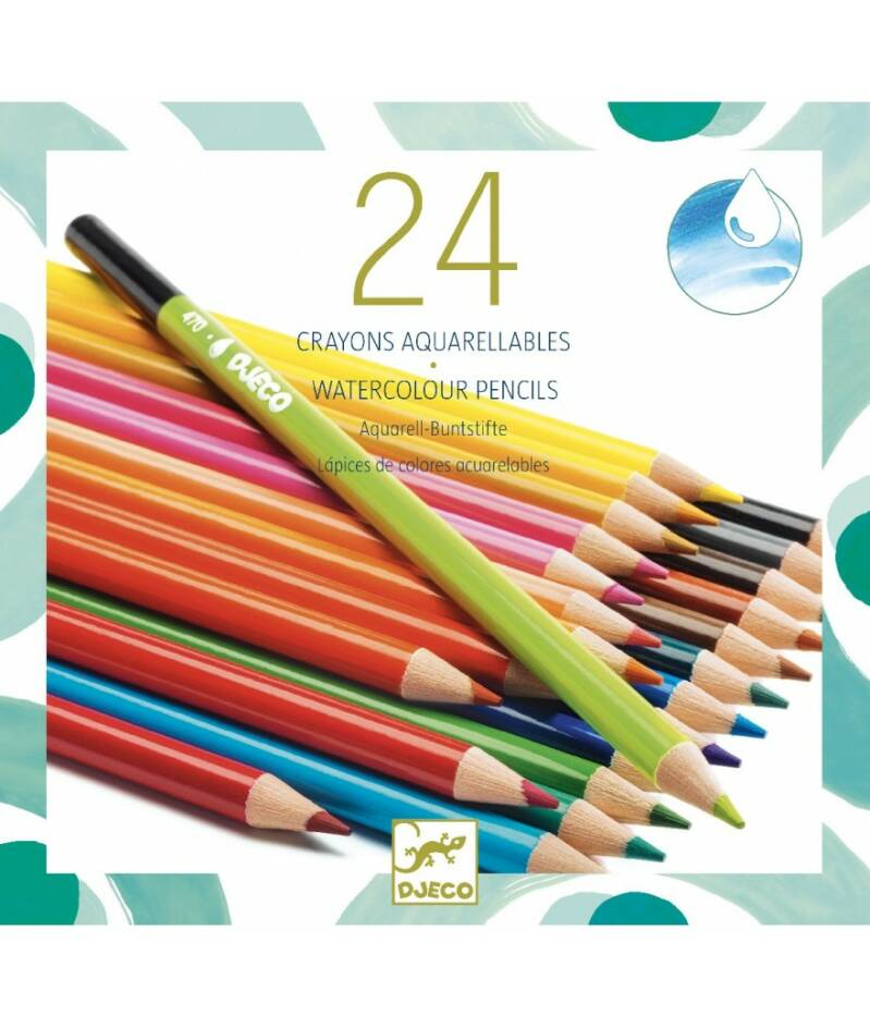 Aquarelpotloden 24 crayons aquarellables 6+