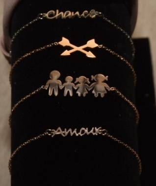 "Armbandje ""Arrows"" rose goud"