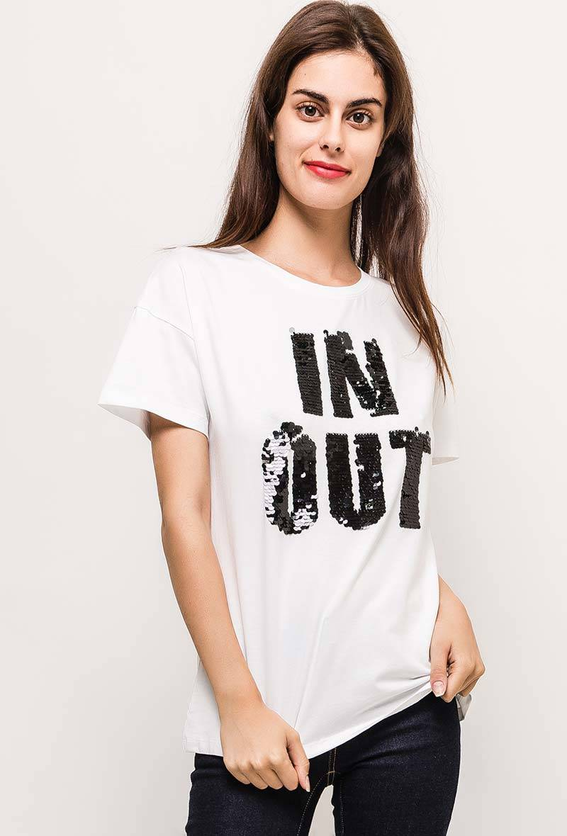 Witte T-shirt in & out