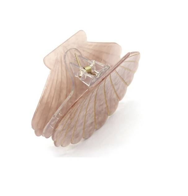 Haarclip large shell old pink