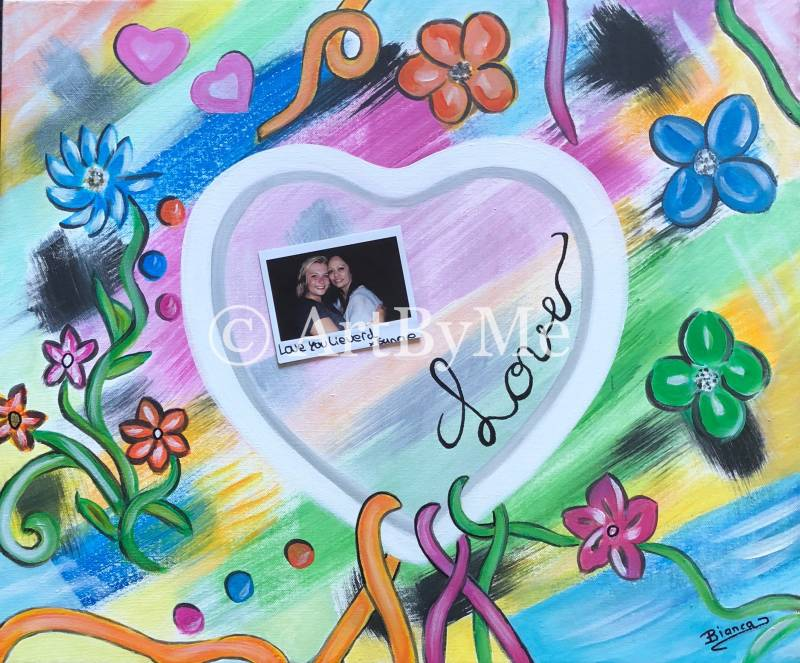 """ Love Matters "" (Photo) Painting"