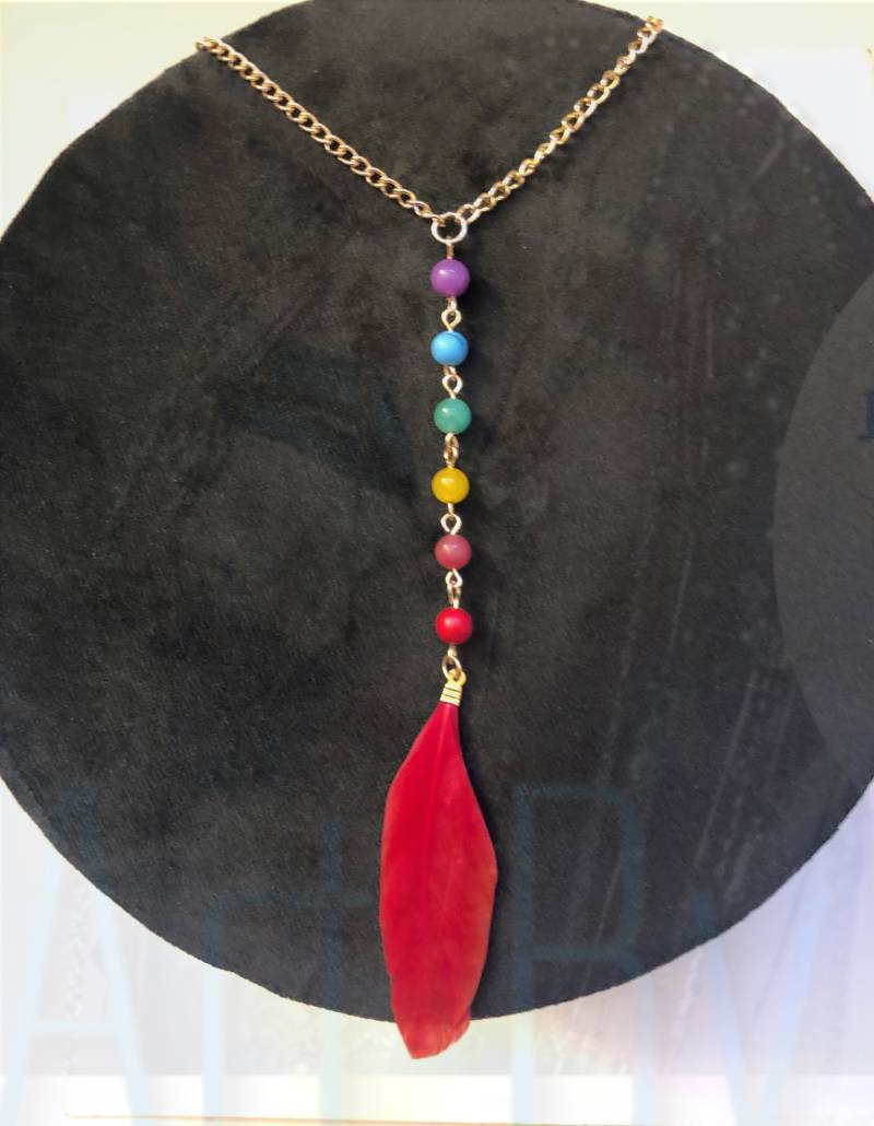 Chakra Red Feather