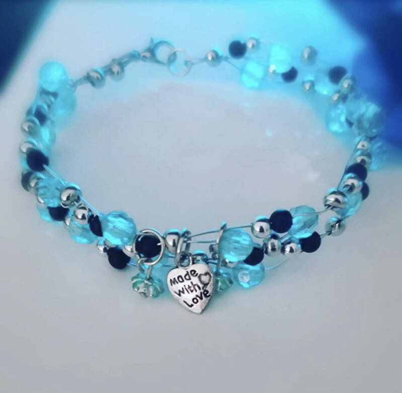Blue beads from