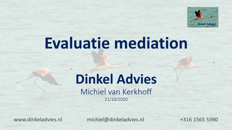 Mediation evaluatie