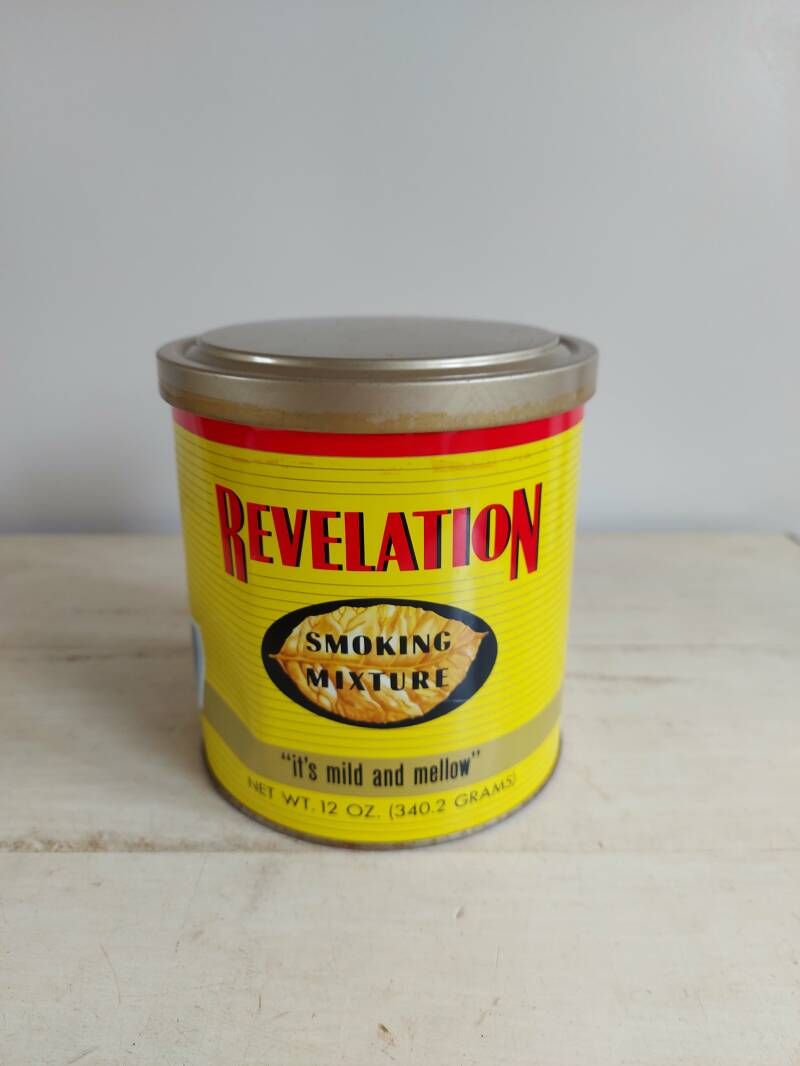 "Vintage tabaksblik ""Revelation"" Smoking Mixture Philip Morris"