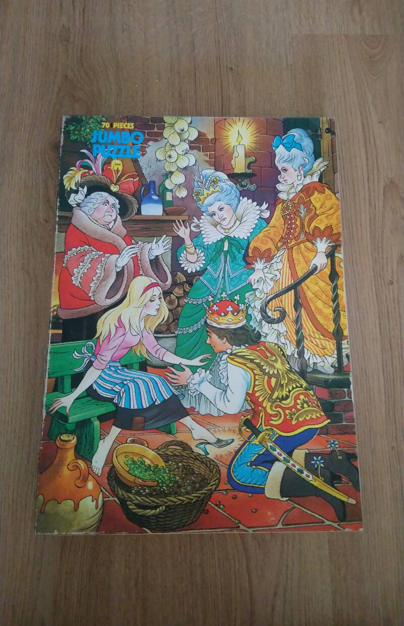 "Vintage Jumbo grote puzzle ""Assepoester"""