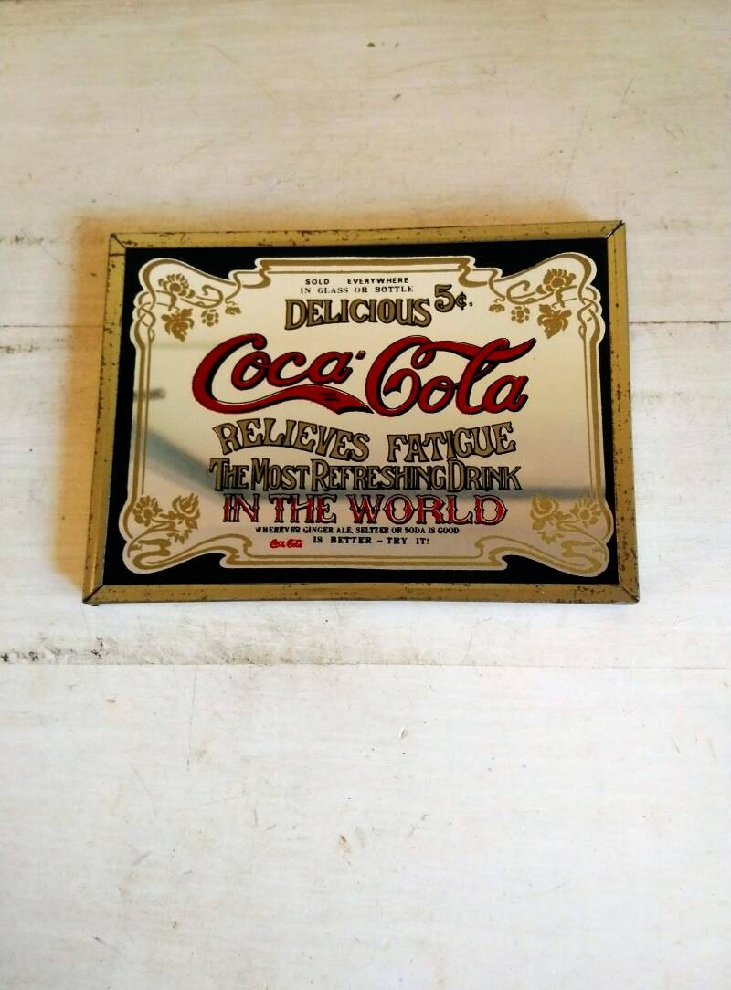 "Vintage spiegel ""Coca Cola - The most refreshing drink in the world"""