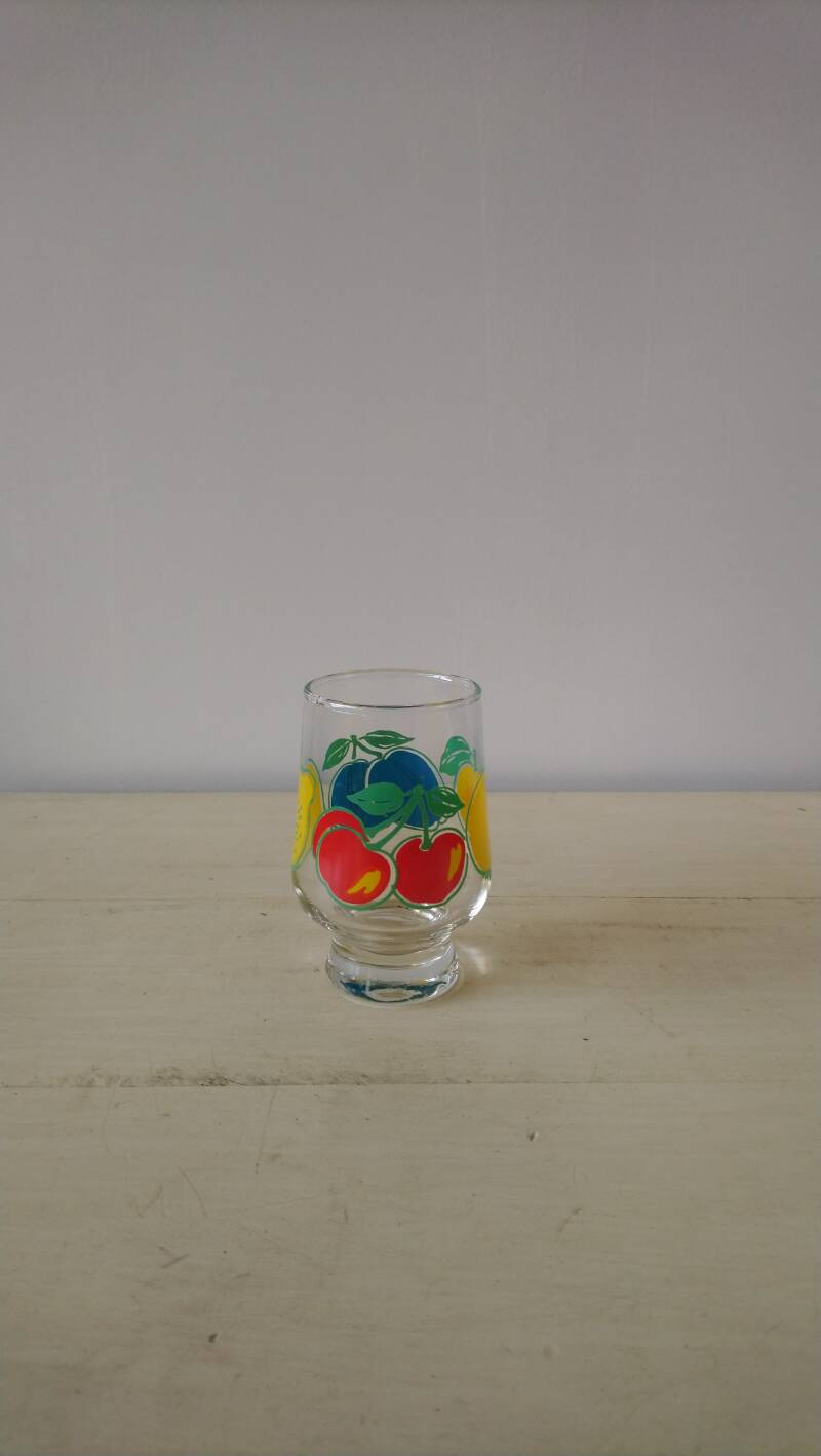 "Vintage limonade glas ""fruit""/ lemonade glass ""fruit"""